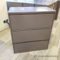 Dark Grey Meridian 3 Drawer Lateral File Cabinet, Grade B SND
